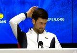 """""""US Open"""" organizatoriai vis dar tikisi surengti 2020 m. turnyrą ir taip suerzino teniso žvaigždes"""