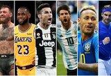 Top 100: populiariausi pastarųjų metų pasaulio sportininkai