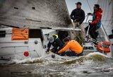 Lietuvos žiniasklaidos atstovai ant vandens varžėsi profesionaliomis sportinėmis jachtomis