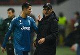 """M.Sarri paaiškino piktą C.Ronaldo reakciją: """"Jam skaudėjo koją"""""""