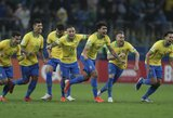 """Baudinių dramą išgyvenusi Brazilija pateko į """"Copa America"""" turnyro pusfinalį"""