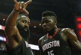 """Hiustone – J.Hardeno siautulys, taiklūs tritaškiai ir nesunki """"Rockets"""" pergalė"""