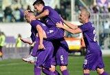 """""""Fiorentina"""" sutriuškino naujokus ir toliau pirmauja """"Serie A"""" lygoje"""