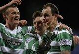 """""""Celtic"""" trečią kartą iš eilės tapo Škotijos čempionais"""