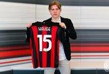"""""""Kauno Žalgirio"""" skriaudikas AC """"Milan"""" klube"""