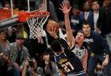 """Nuggets"" užbaigė D.Motiejūno ir ""Spurs"" sezoną"
