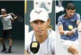 R.Federeriui įskaityta pergalė be kovos, dėl traumos pasitraukęs R.Nadalis praras pirmosios pasaulio raketės statusą