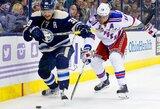 """""""Blue Jackets"""" nutraukė septynių iš eilės pralaimėjimų """"Rangers"""" ekipai seriją"""