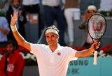 Įspūdingame teniso trileryje – per tašką nuo pralaimėjimo buvusio R.Federerio triumfas