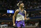 """Geriausią karjeros rezultatą Niujorke pasiekusios E.Svitolinos nesustabdė ir 2017 m. """"US Open"""" finalininkė"""