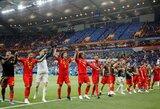 Įspūdinga: dviejų įvarčių atsilikimą panaikinę belgai pergalę išplėšė paskutinėmis rungtynių sekundėmis