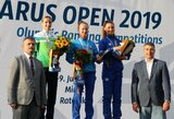 Olimpinio reitingo taškus toliau renkanti G.Venčkauskaitė-Juškienė Baltarusijoje iškovojo sidabrą