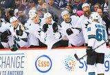 """NHL lygoje """"Sharks"""" iškovojo šeštą pergalę iš eilės"""