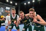 Be keitimų žaidusi Lietuvos jaunių 3x3 krepšinio rinktinė pateko į Europos čempionatą