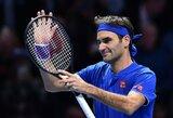 Puikiai žaidęs R.Federeris Londone iškovojo pirmą pergalę