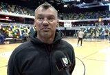 """""""Žalgiris"""" surengė treniruotę Londone, Š.Jasikevičius ir R.Javtokas pasidalino įspūdžiais"""