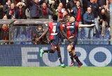 """Milano """"Inter"""" svečiuose nepasipriešino """"Genoa"""" futbolininkams"""