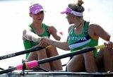 A.Ginevičiūtei ir V.Senkutei dar teks pakovoti dėl vietos pasaulio jaunimo irklavimo čempionato pusfinalyje