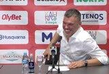 """Po pergalės prieš """"Neptūną"""" – linksmas Š.Jasikevičiaus ir V.Čeponio žodžių mūšis bei trenerio nusivylimas dėl gynybos"""