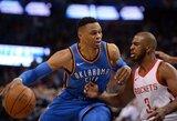 """R.Westbrooko vedama """"Thunder"""" pasismagino prieš """"Suns"""" komandą"""