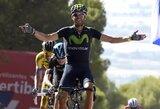 """Antro čempiono titulo siekiantis A.Valverde tapo """"Vuelta a Espana"""" lenktynių lyderiu"""