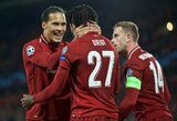 "V.Van Dijkas tikisi, jog ši ypatinga ""Liverpool"" sudėtis kartu rungtyniaus dar bent 4 metus"