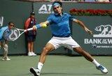 Magiškas R.Federerio smūgis