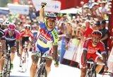 """Trečiajame """"Vuelta a Espana"""" dviračių lenktynių etape – P.Sagano pergalė"""