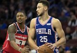Trigubą dublį surinkęs B.Simmonsas įsirašė į NBA istoriją