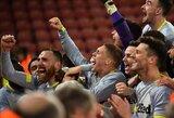 """F.Lampardas triumfuoja: po papildomų rungtynių ir baudinių serijos """"Derby"""" išmetė """"Southampton"""" iš FA taurės"""
