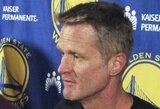 """Pamatykite: S.Kerras komandos rūbinėje motyvavo """"Warriors"""" žaidėjus"""