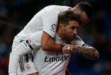 """S.Ramosas pelnė 100-ąjį karjeros įvartį, o """"Real"""" Ispanijos Karaliaus taurėje iškovojo užtikrintą pergalę"""