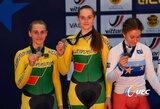 V.Šumskytė ir A.Savičiūtė – Europos jaunių dviračių treko vicečempionės