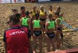 Lietuvos paplūdimio rankininkės pasitraukė iš kovos dėl medalių, vaikinai iškovojo pirmąją pergalę