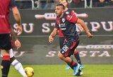 """Dviejų įvarčių deficitą panaikinęs """"Cagliari"""" 90-ąją minutę išplėšė lygiąsias su """"Sassuolo"""""""