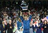 """Jubiliejinis titulas: revanšą pasiekęs R.Federeris 100-ąjį kartą laimėjo ATP """"World Tour"""" turnyrą"""