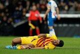 """Negailestingas kirtis """"Barcai"""": L.Suarezas nerungtyniaus 4 mėnesius"""