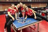 R.Paškauskienė su komandos draugėmis iškovojo Italijos stalo teniso taurę