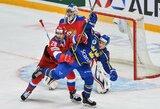 Euroturo lyderiai Rusijos ledo ritulininkai neatsilaikė prieš švedus