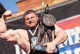 """Ž.Savickas iškovojo """"Ultimate Strongman Masters"""" pasaulio čempiono titulą!"""