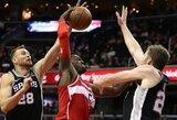 """D.Motiejūnas atsisveikino su """"Spurs"""" komanda"""