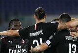 """Z.Ibrahimovičius sėkmingai realizavo 11 m baudinį, o """"AC Milan"""" sutriuškino """"Lazio"""""""