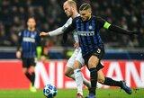 """UEFA Čempionų lyga: """"Inter"""" kelią į kitą etapą užkirto konkurentų lygiosios"""