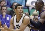 Turkų viltis E.Kanteris sužaidė karjeros rungtynes NBA