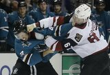 """Viena blogiausių NHL komandų trečią kartą šiame sezone įveikė """"Sharks"""""""
