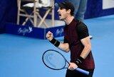 Teniso legendų finale Belgijoje A.Murray'us įspūdingai atsitiesė ir nugalėjo S.Wawrinką
