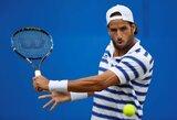 Lažybomis įtariamas F.Lopezas pusfinalyje sustabdė Kanados teniso vunderkindą