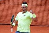 Legendinių varžovų dvikovoje R.Nadalis uždarė R.Federeriui duris į finalą