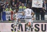 """Italijoje – """"Juventus"""" pergalė ir 16-mečio vartininko debiutas """"Milan"""" klube"""