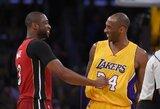 """D.Wade'as: """"Žinojau, kad niekada nebūsiu toks pats, kai Kobe baigs karjerą"""""""